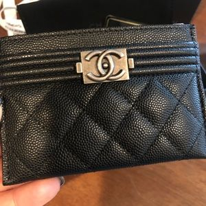 Brand New Authentic Chanel Boy Card Case